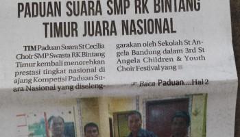 St. Cecilia choir SMP Bintang Timur Juara I